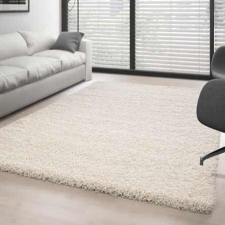 Rugs Shaggy pile long single color CREMÈ