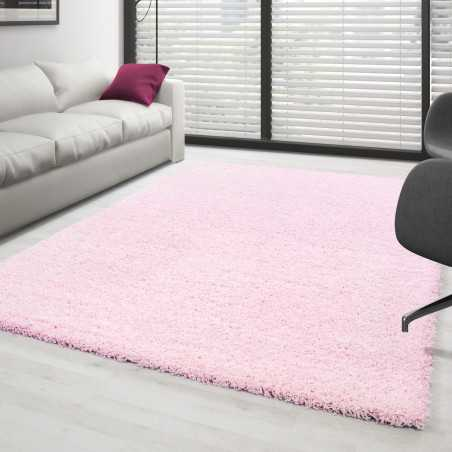 Rugs Shaggy pile long-single color Pink
