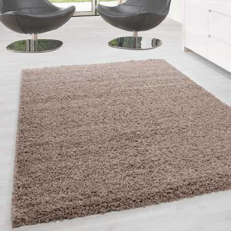 Carpet Shaggy pile long single color stack Height 5cm BEIGE
