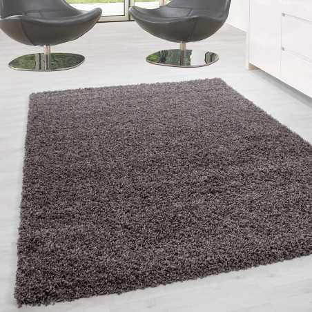 Rug Shaggy pile long single color stack Height 5cm Taupe