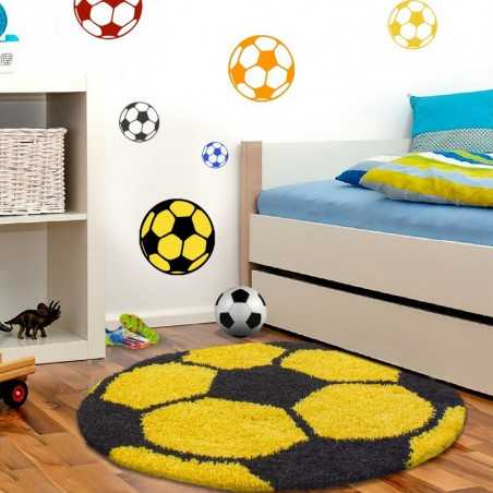 Mats Child Football for child's Room Yellow-Black