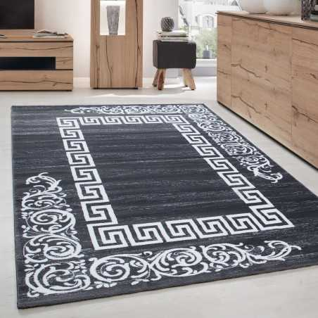 Rug modern living room appointed elegance Miami 6620 Grey-White