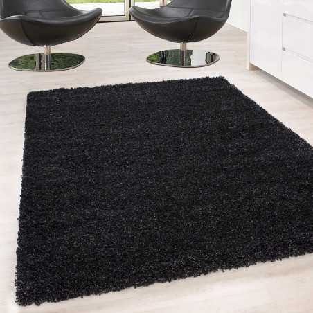 Rug Shaggy pile long single color stack Height 5cm ANTHRACITE