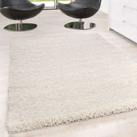 Rugs Shaggy pile long single color stack Height 5cm CREMÈ