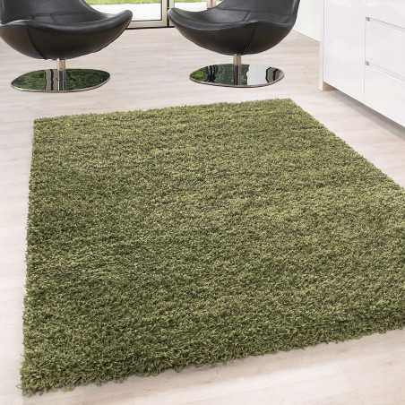 Carpet Shaggy pile long single color stack Height 5cm GREEN