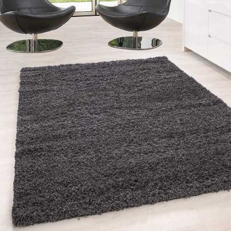 Rug Shaggy pile long single color stack Height 5cm GREY