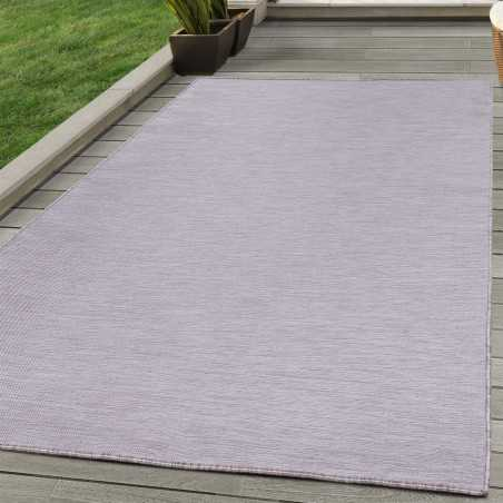 Rugs in sisal Fabric flat Terraces Indoor Outdoor speckled Pink creme