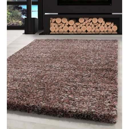Living room Carpet Shaggy high quality Pink Taupe Beige Cream Speckled