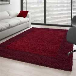 Carpet Shaggy pile long designated border colors and sizes available