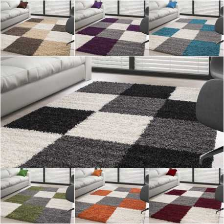 Rugs Shaggy pile long plaid plusiuers colors and sizes available