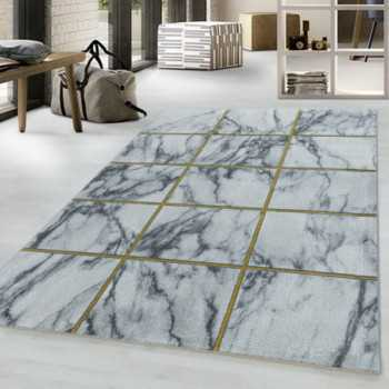 Designer rug with low pile...