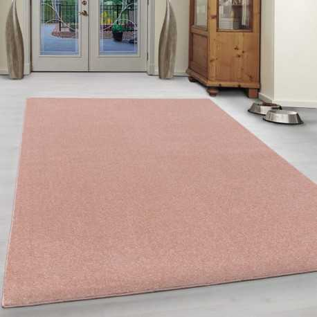 Carpet for living room with short pile look Gabbeh uni Pink