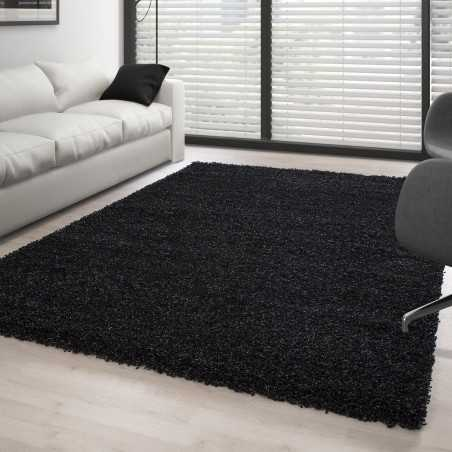 Rug Shaggy pile long single color ANTHRACITE