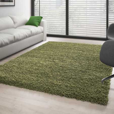 Rug, Shaggy pile long-single color GREEN