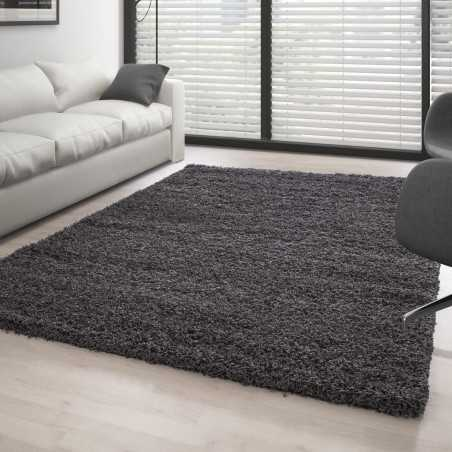 Rug Shaggy pile long single color GREY