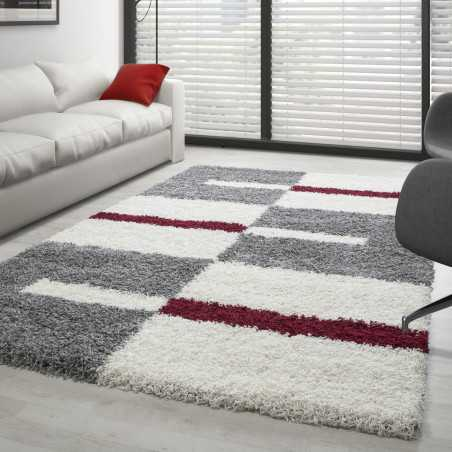 - Carpet Gala Shaggy designated battery a long Grey-White-Red