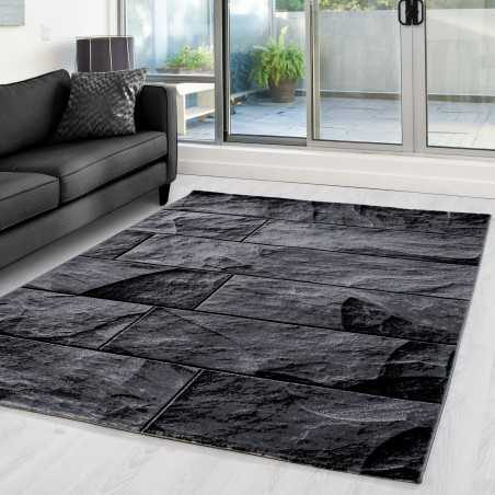 Carpet and modern appointed motivates stone PARMA 9250 Black